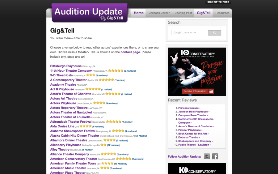 audition-update-gig-and-tell